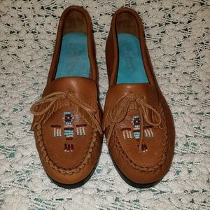 Hush puppies 7M  tan moccasins